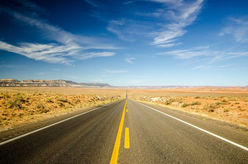 Extremely Long Desert Road