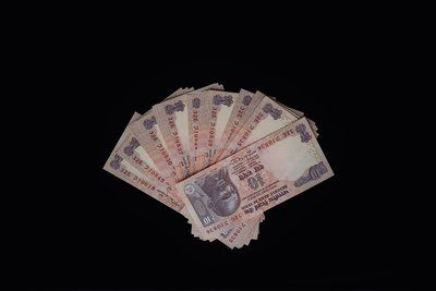 Fanned Out Rupees Currency