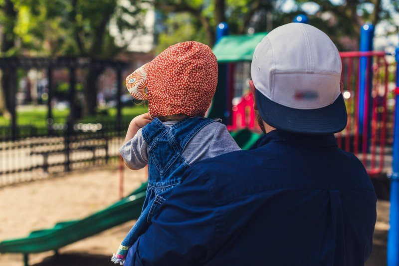 Father & Daughter At Park