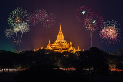 Fireworks in Asia