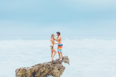 Fitness Couple by Ocean