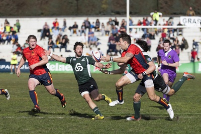 Five Men Playing Rugby