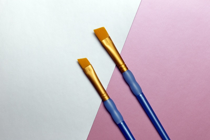 Flat Lay Paint Brushes
