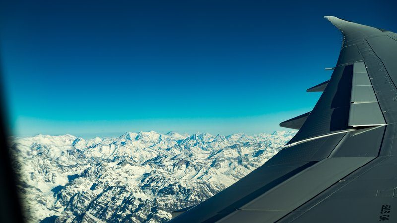 Flight Over Mountains