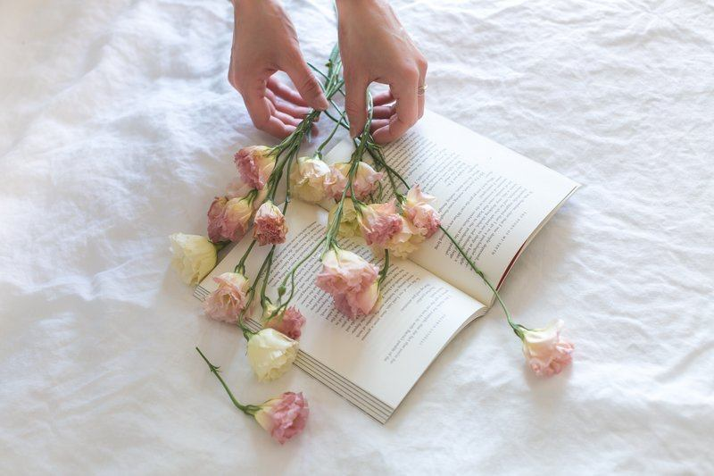 Flowers On A Book