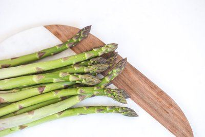 Fresh Asparagus With Water Drops