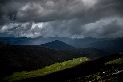 Gray Clouds on Mountains