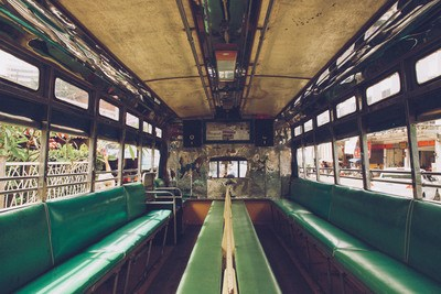 Green Bus interior