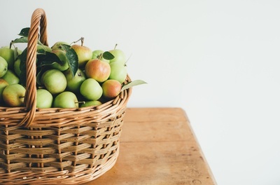 Green Fruits in Basket