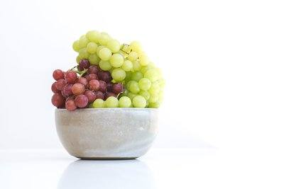 Green Red Grapes In Bowl