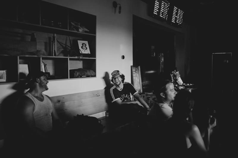 Group of People inside the Room in Black & White