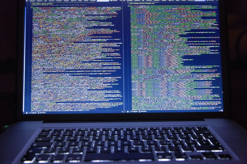 HTML Code on a Laptop