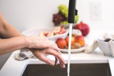 Hand Washing In The Kitchen