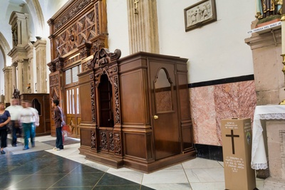 Hand-carved confessional