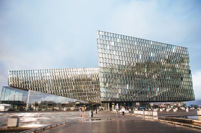 Harpa Concert Hall Buidling in Iceland