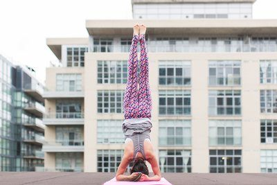 Headstand Inversion Woman