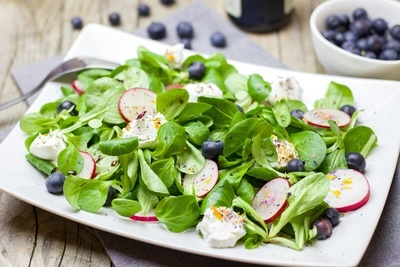 Healthy Salad with Radishes