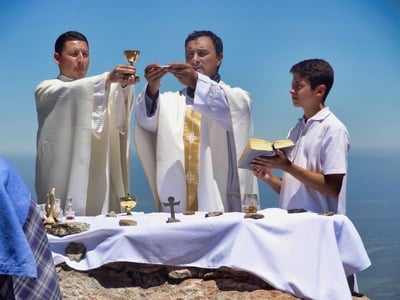 Holy Mass in the open air