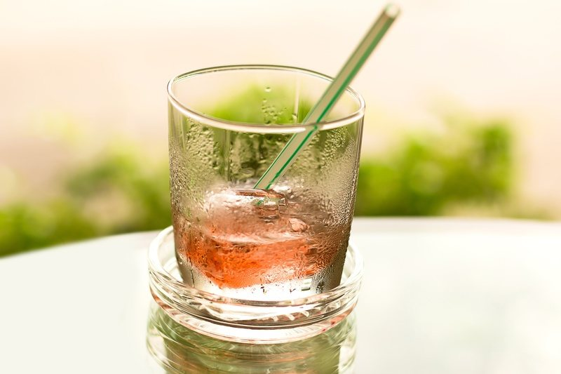 Iced Drink with Straw
