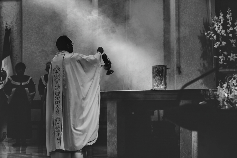 Incensing the altar