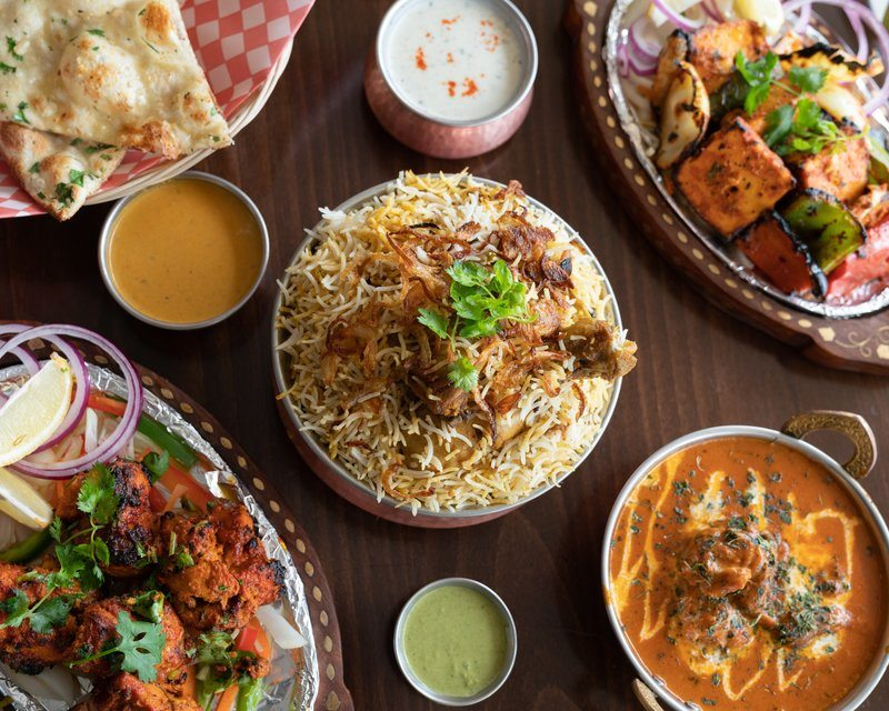 Indian Food On Restaurant Table