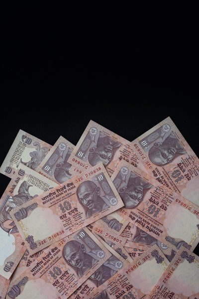Indian Rupees Texture Background