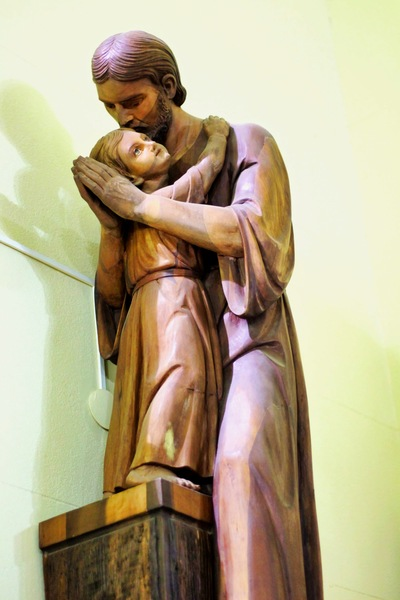 Jesus' embrace of his Father Joshua