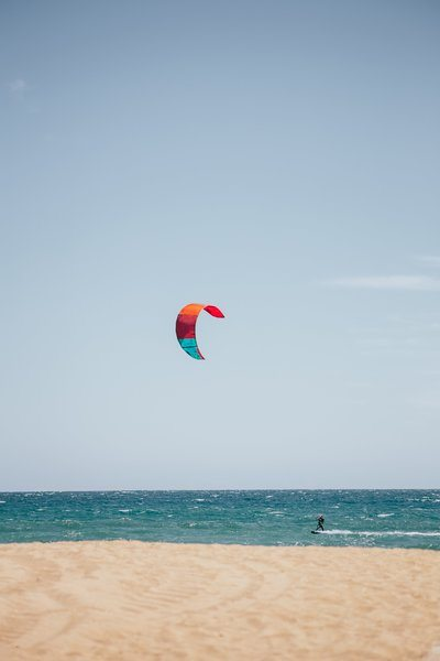 Kite Surfing At Beach