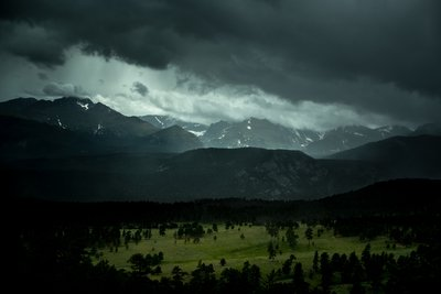 Landscape Photography of Mountains During Cloudy Skies