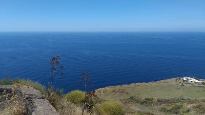Large and long view on the Stromboli Island