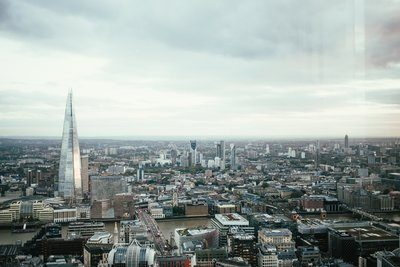 London Skyline And Gray Sky