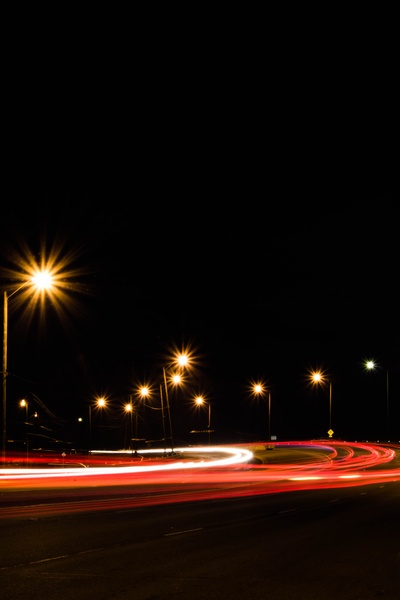 Long Exposure Photography of Road at Nighttime