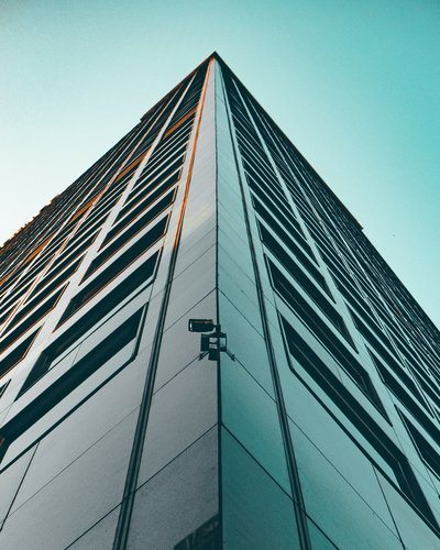 Looking Up At Modern Building