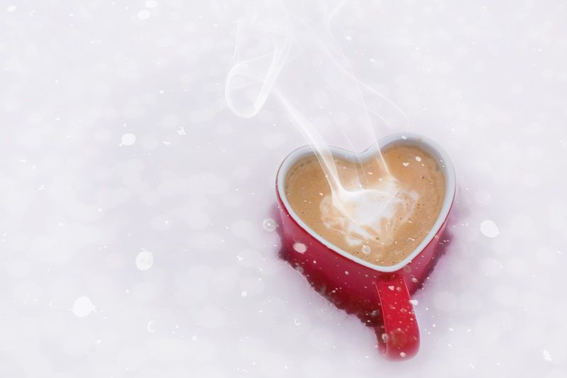 Love Coffee in Snow
