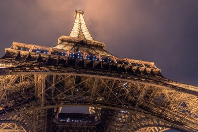 Low Angle  Eiffel Tower, Paris
