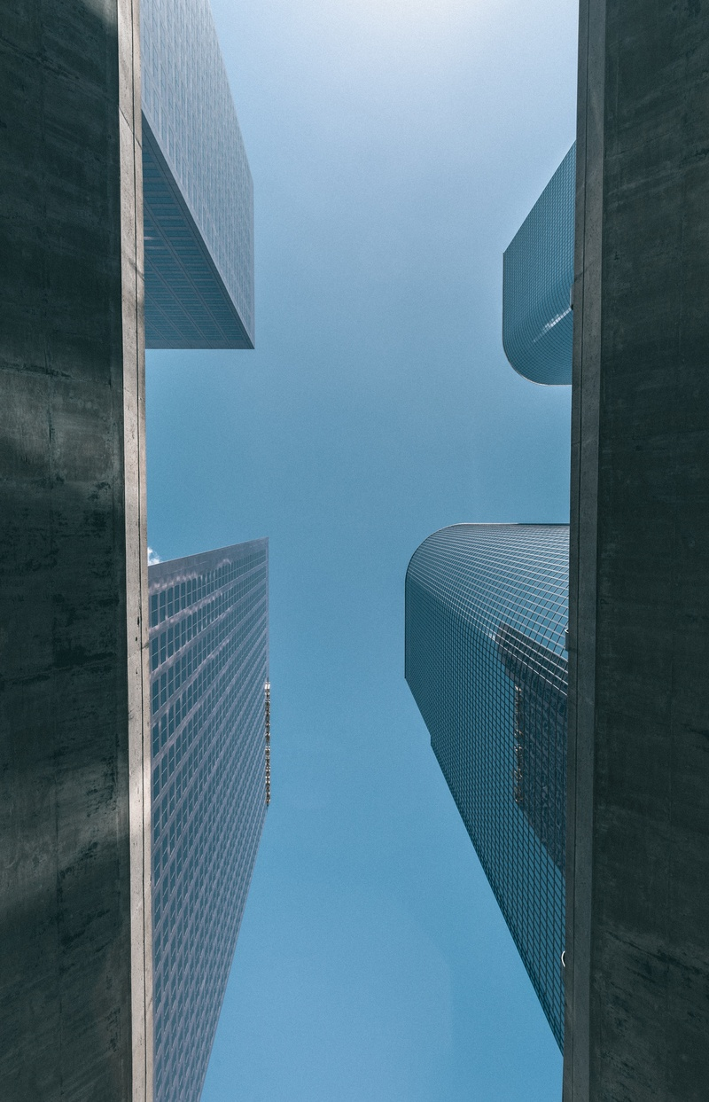 Low Angle  High-Rise Buildings