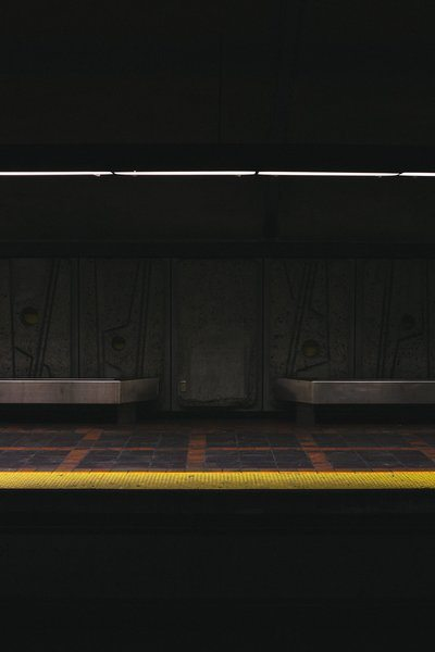 Low Light On Subway Platform