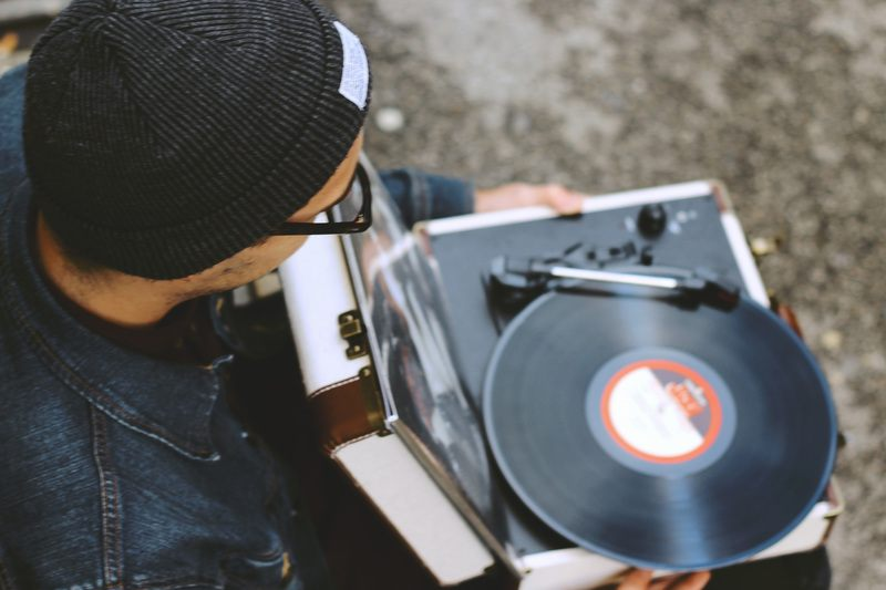 Man with Record Player