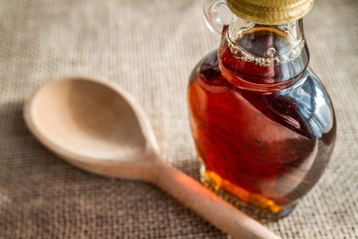 Maple Syrup & Wooden Spoon