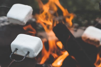 Marshmallows on Camp Fire