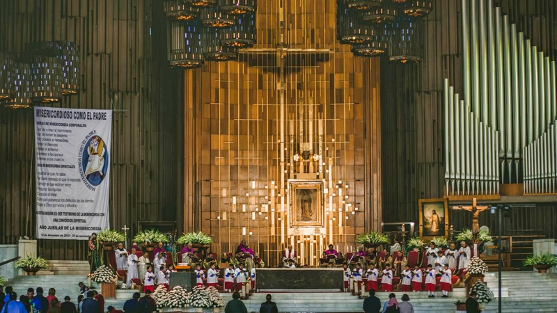 Mass at the Basilica of Guadalupe