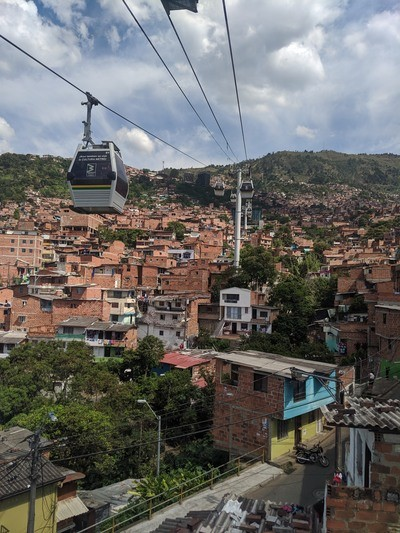 Medellin by cable car
