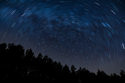 Milky Way Star Trails