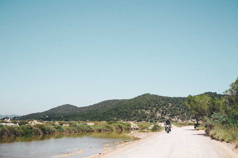 Motorcycle By Hills