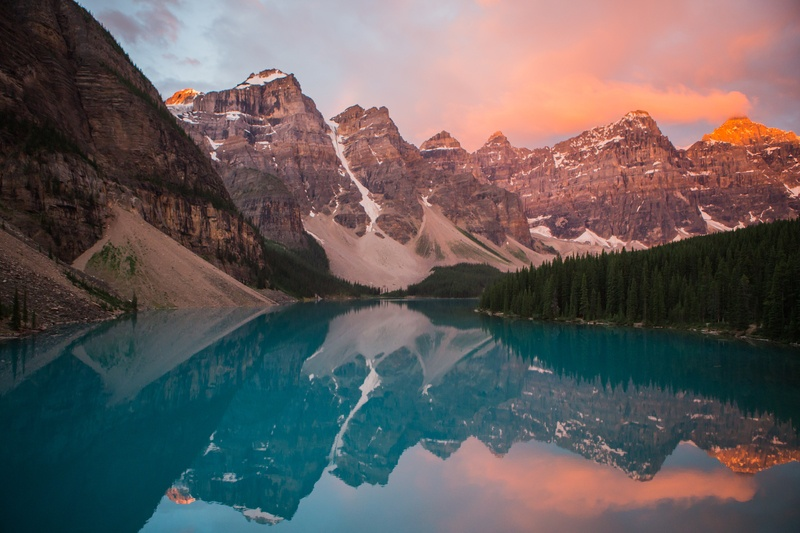 Mountain Reflection in Water