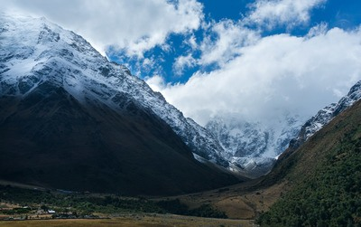 Mountain Tip Covered with Snow