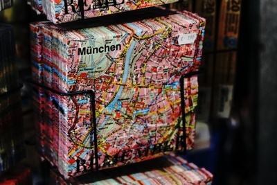 Munchen Pack d'impression de carte sur support noir