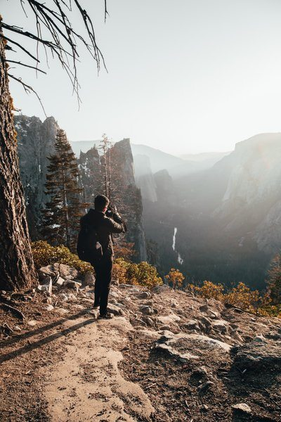 Nature Photographer In California Mountains
