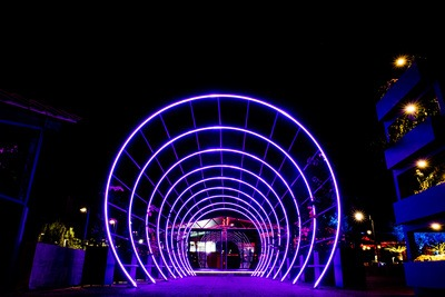 Night Tunnel Lights