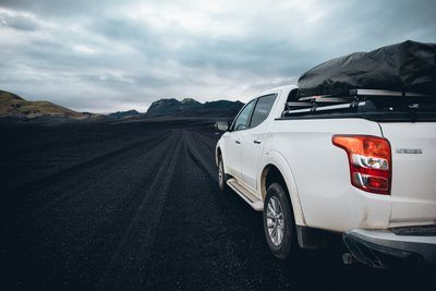 Off Roading On Volcanic Sand Field